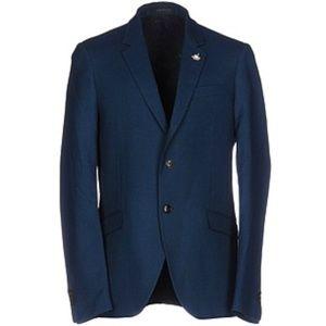 Scotch & Soda Virgin Wool Blue Blazer Medium
